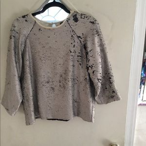 Fully lined  round neckline sequin blouse